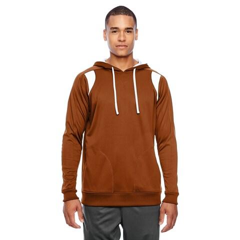 Elite Men's Sport Burnt Orange/White Big and Tall Performance Hoodie