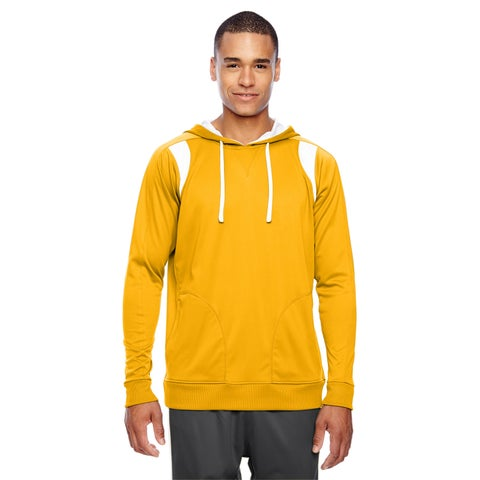 Elite Men's Big and Tall Sport Athletic Gold/White Performance Hoodie