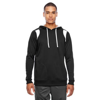 Elite Men's Big and Tall Black/White Performance Hoodie
