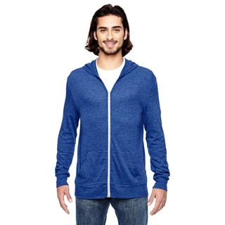 Eco Men's Big and Tall Eco Pacific Blue Long-Sleeve Zip Hoodie
