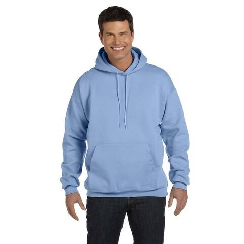 Men's Big and Tall Ultimate Cotton 90/10 Light Blue Pullover Hood