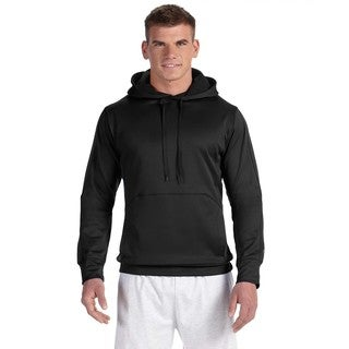 Men's Colorblock Black/Black Pullover Hood (XL)