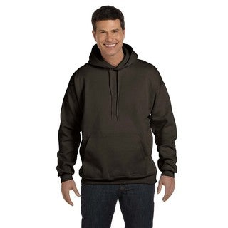 Men's Big and Tall Ultimate Cotton 90/10 Dark Chocolate Pullover Hood