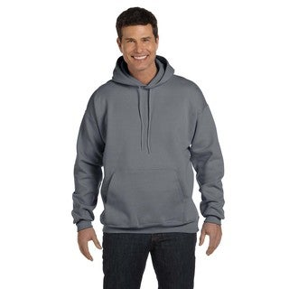 Men's Big and Tall Ultimate Cotton 90/10 Charcoal Heather Pullover Hood