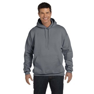 Men's Big and Tall Ultimate Cotton 90/10 Charcoal Heather Pullover Hood (2 options available)