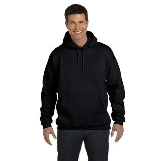 Men's Big and Tall Ultimate Cotton 90/10 Black Pullover Hood