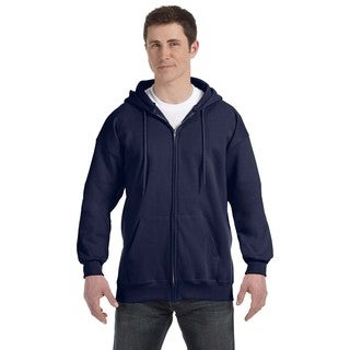 Men's Big and Tall Navy Ultimate Cotton 90/10 Full-Zip Hood