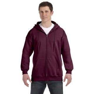 Men's Big and Tall Maroon Ultimate Cotton 90/10 Full-Zip Hood