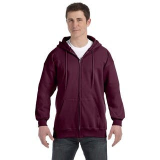 Men's Big and Tall Maroon Ultimate Cotton 90/10 Full-Zip Hood|https://ak1.ostkcdn.com/images/products/12397332/P19218271.jpg?impolicy=medium