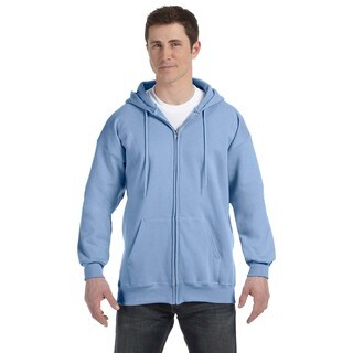 Men's Big and Tall Light Blue Ultimate Cotton 90/10 Full-Zip Hood
