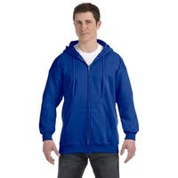 Men's Big and Tall Deep Royal Ultimate Cotton 90/10 Full-Zip Hood