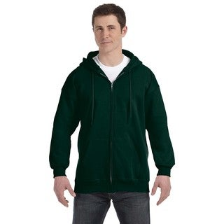 Men's Big and Tall Deep Forest Ultimate Cotton 90/10 Full-Zip Hood