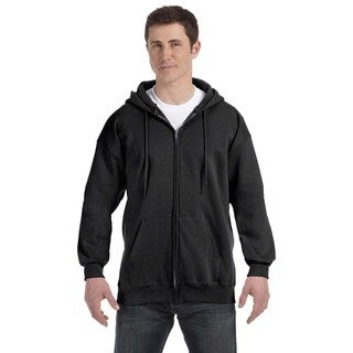 Men's Big and Tall Black Ultimate Cotton 90/10 Full-Zip Hood