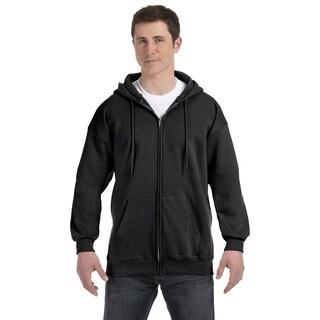 Men's Big and Tall Black Ultimate Cotton 90/10 Full-Zip Hood