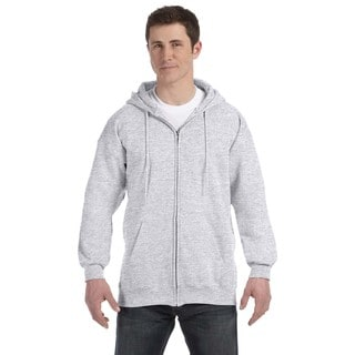 Men's Big and Tall Ash Ultimate Cotton 90/10 Full-Zip Hood