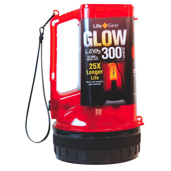 Life+Gear  Glow  60 lumens Lantern  LED  AA  Red