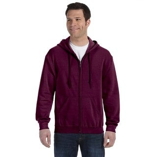 50/50 Men's Big and Tall Full-Zip Maroon Hooded Jacket
