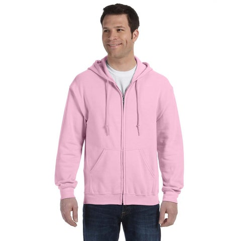 50/50 Men's Big and Tall Full-Zip Light Pink Hooded Jacket