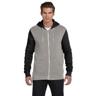 Rocky Men's Eco Grey/Eco Tru Black Colorblocked Full-Zip Hoodie (XL)