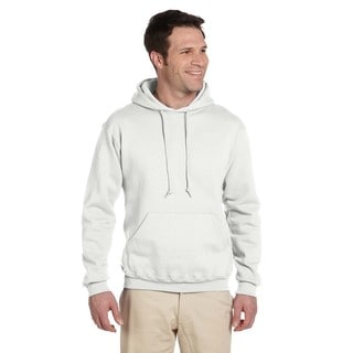 Men's Big and Tall 50/50 Super Sweats Nublend Fleece White Pullover Hood