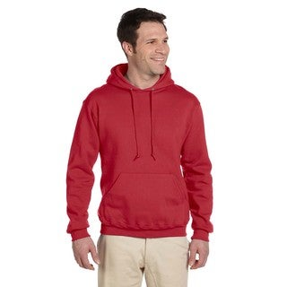 Men's Big and Tall 50/50 Super Sweats Nublend Fleece True Red Pullover Hood