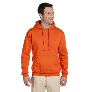 Men's Big and Tall 50/50 Super Sweats Nublend Fleece Safety Orange Pullover Hood