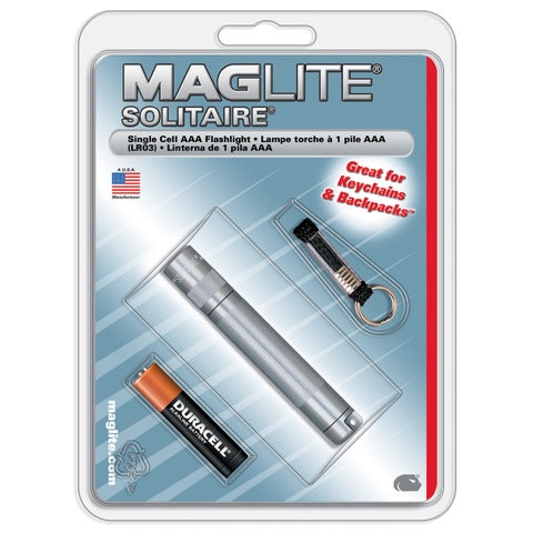Maglite Solitaire 2 lumens Flashlight Incandescent AAA Silver