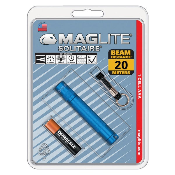 Maglite  Solitaire  2 lumens Flashlight  Incandescent  AAA  Blue