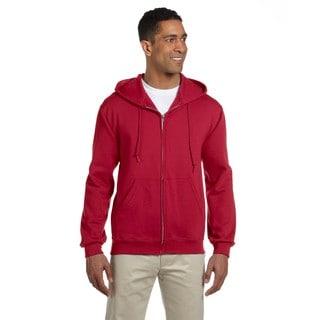 Men's Big and Tall 50/50 Super Sweats Nublend Fleece Full-Zip True Red Hood