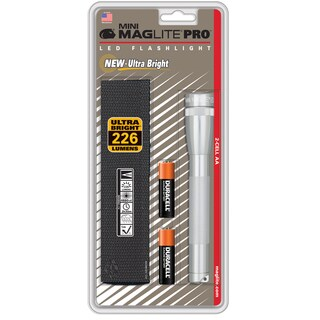 Maglite Mini 14 lumens Flashlight Xenon AA Silver
