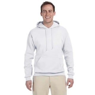 Men's 50/50 Nublend Fleece White Pullover Hood