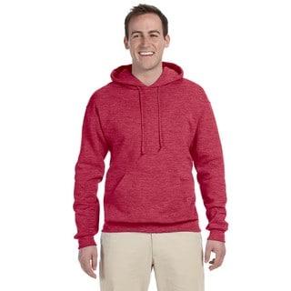 Men's Big and Tall 50/50 Nublend Fleece Vintage Heather Red Pullover Hood
