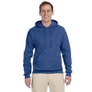 Men's Big and Tall 50/50 Nublend Fleece Vintage Heather Blue Pullover Hood