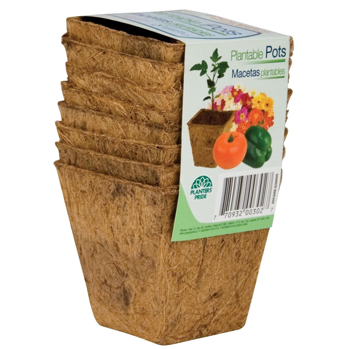 Planters Pride RSQ03000 3-inch Square Fiber Grow Coconut ...