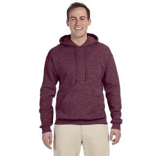 Men's Big and Tall 50/50 Nublend Fleece Vint Heather Maroon Pullover Hood
