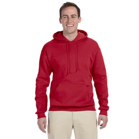 Men's 50/50 Nublend Fleece True Red Pullover Hood