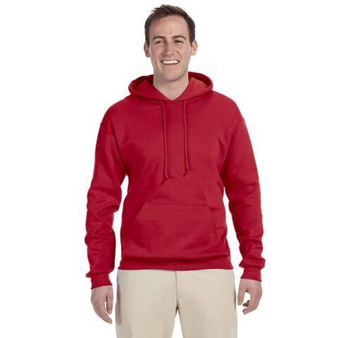 Men's 50/50 Nublend Fleece True Red Pullover Hood