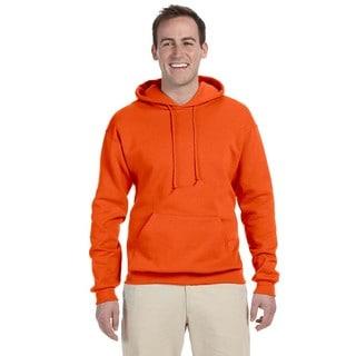 Men's 50/50 Nublend Fleece Safety Orange Pullover Hood