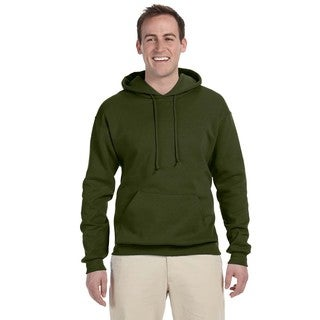 Men's Big and Tall 50/50 Nublend Fleece Military Green Pullover Hood