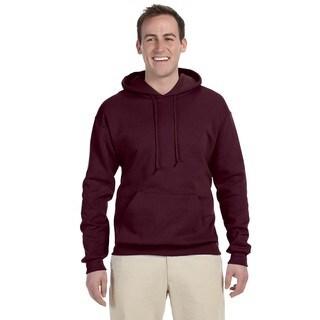Men's Big and Tall 50/50 Nublend Fleece Maroon Pullover Hood