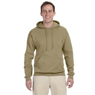 Men's Big and Tall 50/50 Nublend Fleece Khaki Pullover Hood