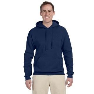 Men's Large 50/50 Nublend Fleece J Navy Pullover Hood