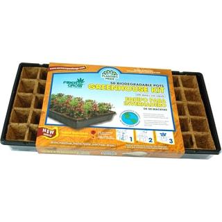 Planters Pride RZG50170 50 Fiber Grow Pot Greenhouse Starter Kit