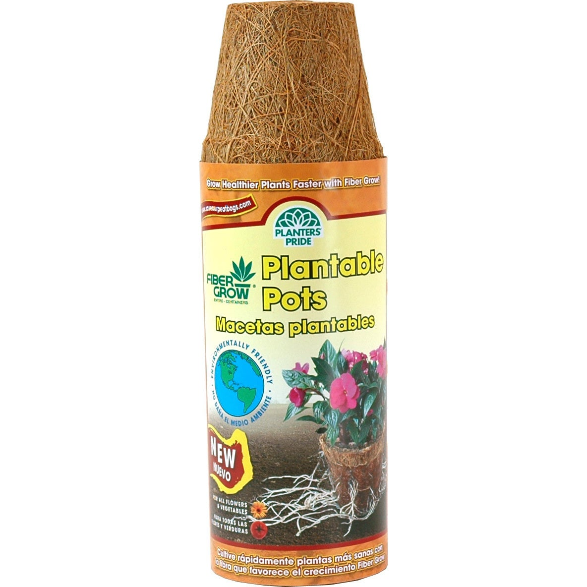 Planters Pride RZR02252 12 Pack 2-1/4 -inch Fiber Grow Po...