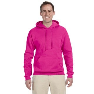 Men's Big and Tall 50/50 Nublend Fleece Cyber Pink Pullover Hood