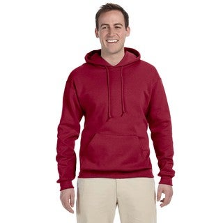 Men's Big and Tall 50/50 Nublend Fleece Crimson Pullover Hood