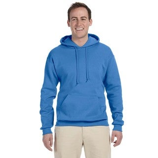 Men's Big and Tall 50/50 Nublend Fleece Columbia Blue Pullover Hood
