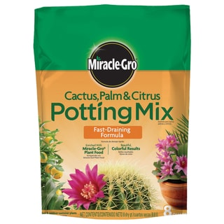 Miracle Gro 72078500 8-quart Cactus, Palm & Citrus Potting Mix 0.06-0.02-0.04