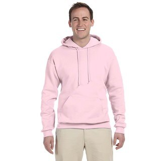 Men's Big and Tall 50/50 Nublend Fleece Classic Pink Pullover Hood