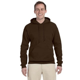 Men's Big and Tall 50/50 Nublend Fleece Chocolate Pullover Hood